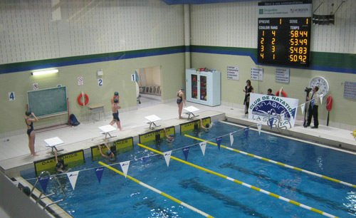 Aquatic timing photo gallery daktronics products for Club piscine terrebonne gascon